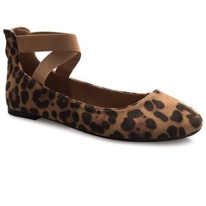 Shoes - Super Chic Suede Leopard Ballet Flats